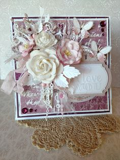 Pink I Love You Card - Scrapbook.com