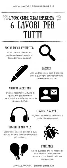 Lavoro Online Senza Esperienza: 6 Lavori Per Tutti Make Business, Online Business, Make Money Online, How To Make Money, Cv Tips, Make Happy, Resume Cv, Social Marketing, Copywriting