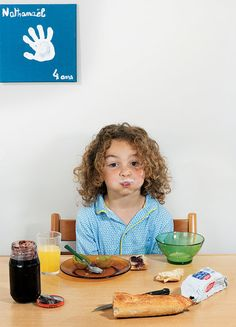 """Rise and Shine"", What kids all around the world eat for breakfast. - Nathanaël Witschi Picard, 6 years old, Paris"