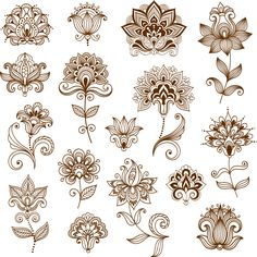 The vector file Collection of mehndi style ornamental flowers CDR File is a Coreldraw cdr ( .cdr ) file type, size is KB, under henna, mehndi vectors. Mehndi Tattoo, Mehndi Art, Henna Mehndi, Henna Art, Mehndi Flower, Mehendi, Mandala Tattoo Design, Henna Tattoo Designs, Mehndi Designs