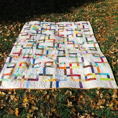 Modern Twin Bed Quilt Contemporary Bed by QuiltsClothsCovers