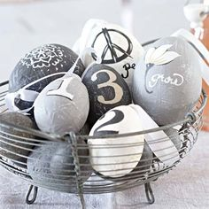 painted paper mache eggs