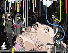 Gig Poster, Working On Myself, New Work, Behance, Concert, Gallery, Illustration, Check, Anime