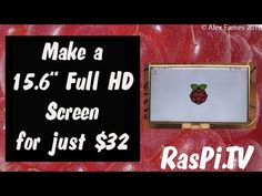 HDMIPi.com   Make A Full HD 15.6 inch Screen for $32 for your Raspberry Pi, DSLR or Video Camera   Just another WordPress site