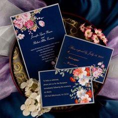 приглашения на свадьбу синего цвета
