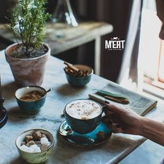 Warming up a cup of coffee #meatrestaurant #beatgroup #steakhouse #steaks #meat #meatbybeat #baku #azerbaijan #restaurants #food #cuisine #studiobelenko #belenko #design #beef #veal #coffee #warmingup
