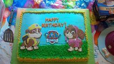 Paw Patrol birthday cake with colorflow