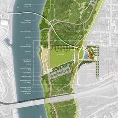 вариант 1 - реалити +графика сверху Council Bluffs Riverfront