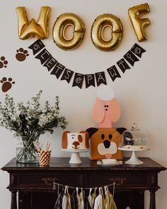 puppy party theme * puppy party & puppy party ideas & puppy party food & puppy party for kids & puppy party theme & puppy party ideas for dogs & puppy party for dogs & puppy party games Dog First Birthday, Puppy Birthday Parties, Puppy Party, 2nd Birthday Party Themes, Kids Birthday Themes, Birthday Decorations, Party Animals, Animal Party, Jungle Animals