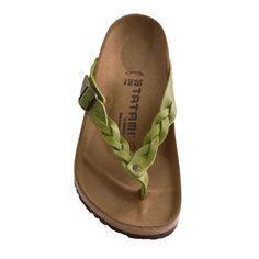 Tatami by Birkenstock Adria Flecht Sandals - Leather (For Women) in Peridot
