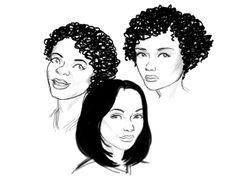 3 women I drew on sketchbook pro.
