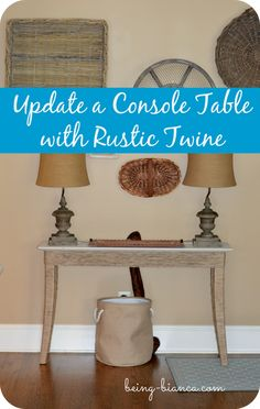 How to update furniture with twine!