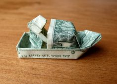 Fisherman Boat Money Origami