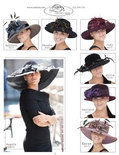 Fall derby hats...also known as breeder cup hats.