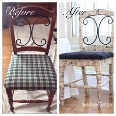 Karen at The Salvaged Boutique picks an old accent chair from the garbage. A mishap in refurbishing leads to a pretty vintage decoupage chair! Decoupage Chair, Dollar Store Crafts, Button Crafts, Shabby Cottage, Fabric Ribbon, Furniture Makeover, Handmade Crafts, Repurposed, Upcycle