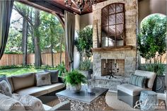 Romantic covered patio....