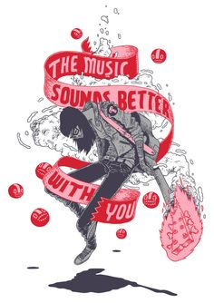 The music sounds better with you by Gerhard Human , via Behance