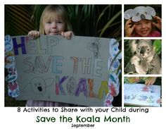 Activities for Save the koala Month (September)