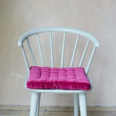 Our Raspberry Velvet Seat Pad will instantly brighten your interiors. Crafted from velvet and cotton, the square seat cushion will add profound comfort to a kitchen chair or wooden indoor bench. Velvet Cushions, Floor Cushions, Seat Cushions, Velvet Color, Green Velvet, Sequin Cushion, Cloud Cushion, Blue Velvet Dining Chairs, Home Themes
