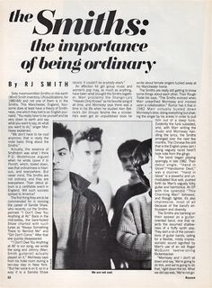 Original Smiths music press items