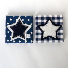 Schilderij 2 luik Stars donkerblauw & witte sterren door Piep Kids op Marktplaats