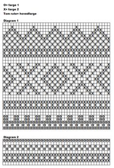 handwarmers pattern with chart Fair Isle Knitting Patterns, Fair Isle Pattern, Knitting Charts, Knitting Socks, Knitting Stitches, Knit Patterns, Free Knitting, Cross Stitch Borders, Cross Stitch Patterns