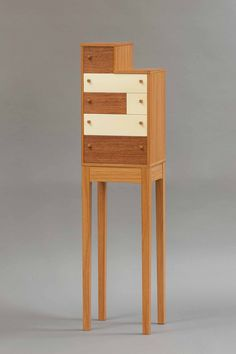 Quabinet on a Stand « College of the Redwoods Fine Furniture Handmade Furniture, Fine Furniture, Contemporary Furniture, Furniture Making, Wood Furniture, Furniture Design, Hanging Cabinet, Small Cabinet, Life Design