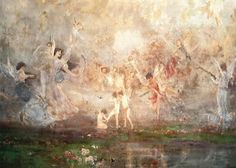 Nikolaos Gyzis: Spring Symphony It is spring again. The earth is like a child that knows poems by heart. National Gallery, National Art, Thing 1, Greek Art, Art Database, Fairy Art, Art Google, All Art, Les Oeuvres