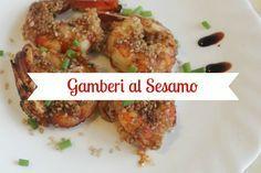 - Favolosi gamberi cucinati in padella con sesamo e salsa di soia, un'ottimo secondo piatto veloce e sfizioso! - Fresh shrimps with soy sauce and sesame...fast and delicious!