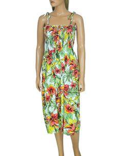 2edb4c92d3 Smock Midi Aloha Dress Starburst Free Shipping from Hawaii  hawaiiandresses   dress  alohadress