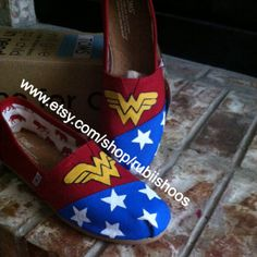 Hey, I found this really awesome Etsy listing at https://www.etsy.com/listing/192617606/super-hero-wonder-woman-toms