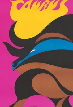 Geclee Print of 1969 Original Vintage Zodiac Poster -Taurus - Alex