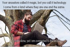Technology magic in a tree