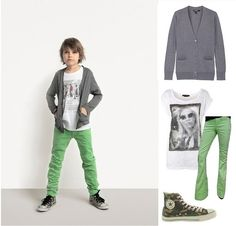 boys green pants - Pi Pants