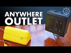 How to wire a double (dual or duplex) outlet (one is a USB outlet) for a location other than in a wall. It is a simple technique with many uses. Electrical Wiring Outlets, Add Electrical Outlet, Ikea Hack Kitchen, Diy Kitchen Island, Ikea Island, Kitchen Outlets, Best Desk Lamp, Black Pipe