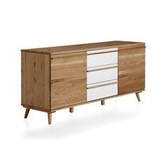 Buffet en chêne 2 portes et 3 tiroirs revêtement formica Naturel - Skandy - Les buffets - Buffets et vaisseliers - Tous les meubles - Décoration d'intérieur - Alinéa