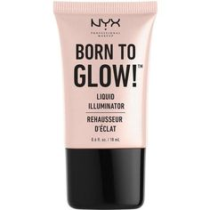 Nyx Professional Makeup Born To Glow Liquid Illuminator (€8,31) ❤ liked on Polyvore featuring beauty products, makeup, face makeup, nyx cosmetics, nyx makeup and nyx