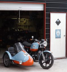 BMW sidecar at Liberty Café Bike shop.