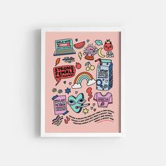 Strong Female Protagonist - Pink – Paper Edited Chinese Dragon Tattoos, Female Protagonist, Online Printing Services, Printable Art, Printables, Pink Paper, Bullet Journal Inspiration, Bold Prints, Birthday Cards