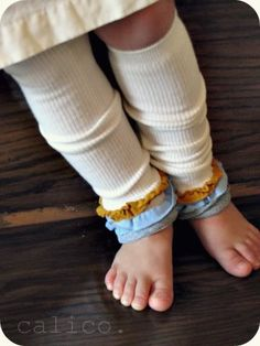 DIY ruffled baby legs. I love putting Jane in these things. Love the new spin on these ones though. Definitely have to try this week.