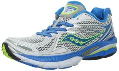 Saucony Womens Hurricane 15 Running ShoeWhiteBlueCitron5 M US -- You can get more details by clicking on the image.