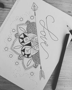 Easy mandala drawing with arrow Easy Mandala Drawing, Simple Mandala, Geometric Mandala, Geometric Drawing, Moon Mandala, Mandala Art, Space Drawings, Easy Drawings, Mandela Drawing