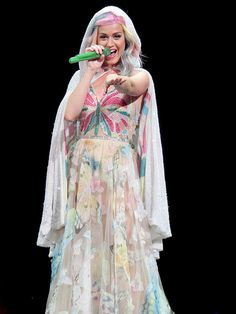 Star Tracks: Wednesday, September 17, 2014 | READY TO FLY | Decked out in a colorful butterfly-inspired gown – with hair to match! – Katy Perry brings her Prismatic tour to Anaheim, California, on Tuesday.