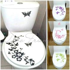 Vinilos Decorativos Baño Inodoros - Decorá Tu Baño!!! - $ 65,00 en Mercado Libre Toilet Quotes, Fancy Letters, Bathroom Paint Colors, Ideas Hogar, Plant Holders, Bathroom Interior, Home Art, Decoupage, Stencils