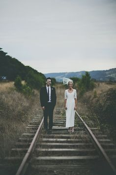 rustic railroad tracks // photo by Brown Paper Parcel Photography