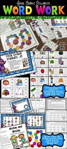 This Final Stable Syllables packet is full of engaging activities to help students master this phonics skill.  Super easy to incorporate into your ELA lessons for whole group activities, literacy groups, partner activities, word work centers, RTI, ELL/ESL lessons, etc.  Click here to see what other teachers have to say about these fun phonics activities and games!