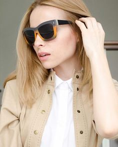 "Russian blogger Tini_Tani wearing our ESCADA ""Bali"" sunglasses"
