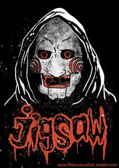 mr jigsaw by RidiculousArts on DeviantArt Horror Icons, Horror Films, Horror Art, Chucky, Jigsaw Saw, Scary Wallpaper, Funny Horror, Creepy Clown, Japanese Film