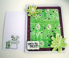 Christian Greeting Card 3D  Hand Stamped  Numbers by AuriesDesigns