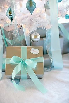 Heavenly Holidays. May have to look for blue paper and white ribbon and silver paper and blue ribbon. :)